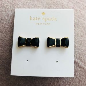 Kate Spade Black Take a Bow earrings